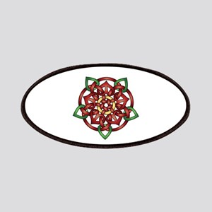 Red Celtic Rose Patches