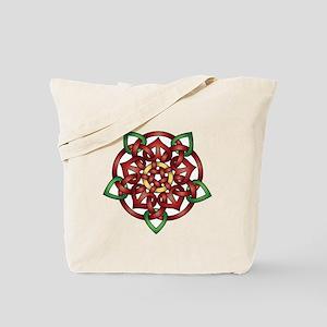 Red Celtic Rose Tote Bag