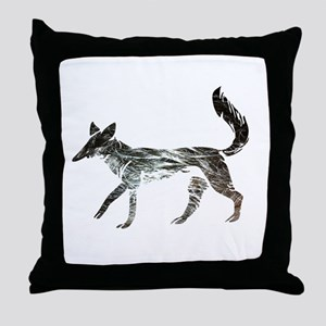 The Aging Silver Fox Throw Pillow