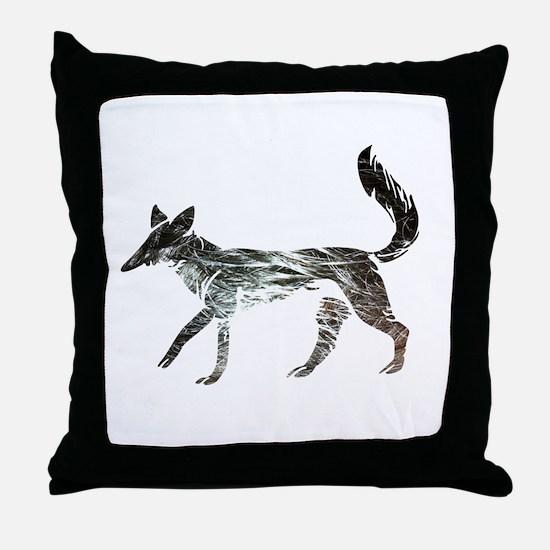The Aging Silver Fox Throw Pillow