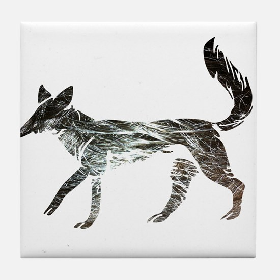The Aging Silver Fox Tile Coaster