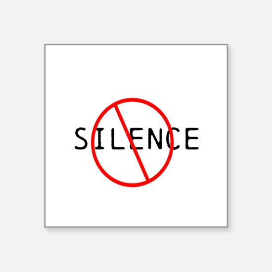 No Silence Sticker