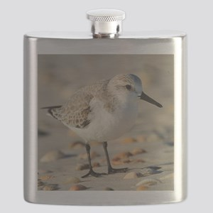 Sand Piper and Seashells Flask