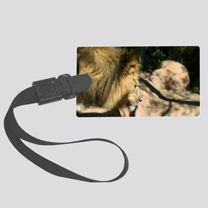 African Lion Large Luggage Tag
