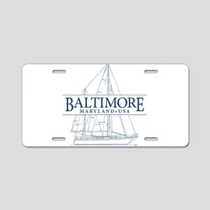 Baltimore Sailboat - Aluminum License Plate