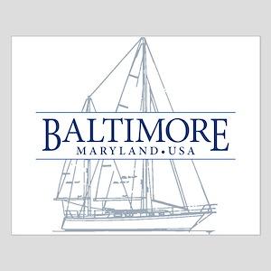 Baltimore Sailboat - Small Poster