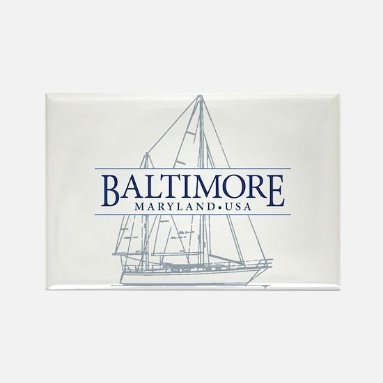 Baltimore Sailboat - Rectangle Magnet