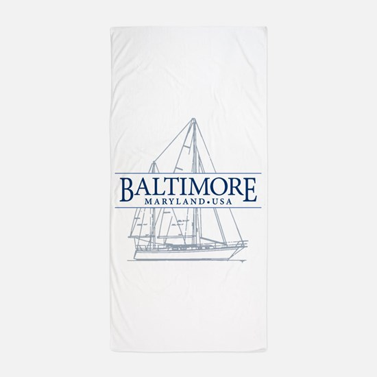 Baltimore Sailboat - Beach Towel