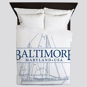 Baltimore Sailboat - Queen Duvet
