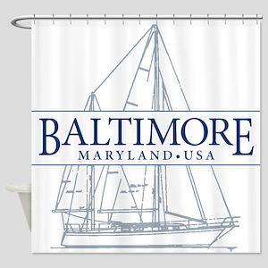 Baltimore Sailboat - Shower Curtain