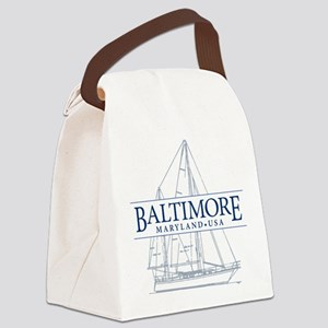 Baltimore Sailboat - Canvas Lunch Bag
