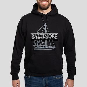 Baltimore Sailboat - Hoodie (dark)