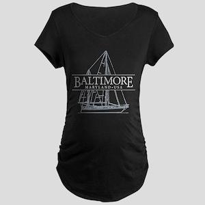 Baltimore Sailboat - Maternity Dark T-Shirt