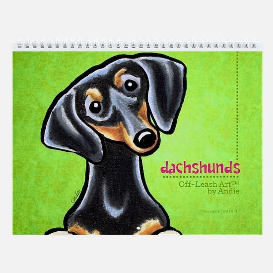 Dachshunds Off-Leash Art™ Vol 1 Wall Calendar
