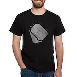 My Fiancee is a Soldier dog tag Dark T-Shirt