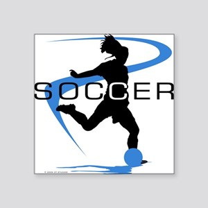 Soccer Rectangle Sticker
