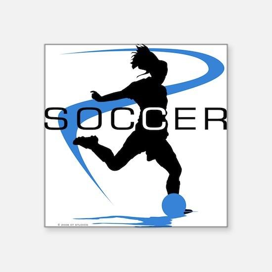 Soccer Rectangle Sticker