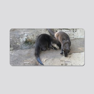 Otter Aluminum License Plate