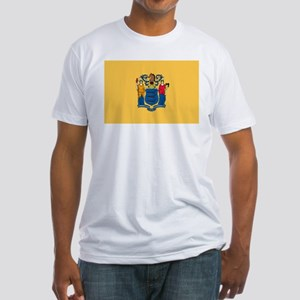 New Jersey Flag Fitted T-Shirt