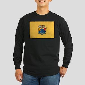 New Jersey Flag Long Sleeve Dark T-Shirt