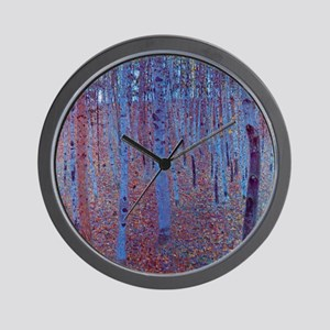 Beech Forest by Gustav Klimt Wall Clock