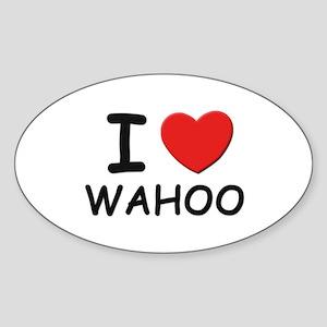 I love wahoo Oval Sticker