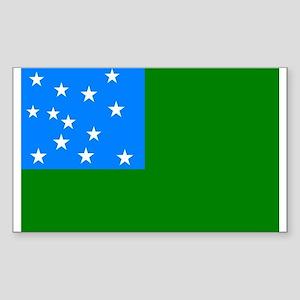 Green Mountain Boys Flag Sticker (Rectan