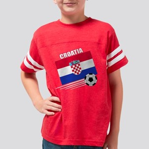 croatia soccer &ball drk Youth Football Shirt