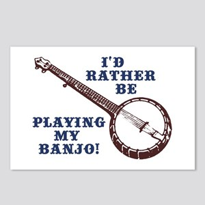 I'd Rather Be Playing My Banjo Postcards (Package