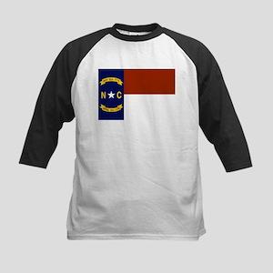 North Carolina Flag Kids Baseball Jersey