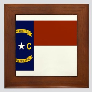 North Carolina Flag Framed Tile
