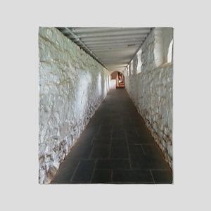 Monticello Thomas Jefferson Hallway  Throw Blanket