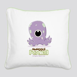 Cute Kraken Square Canvas Pillow