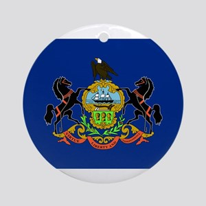 Pennsylvania Flag Ornament (Round)