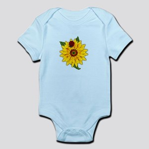 Mosaic Sunflower with Lady Bug Body Suit