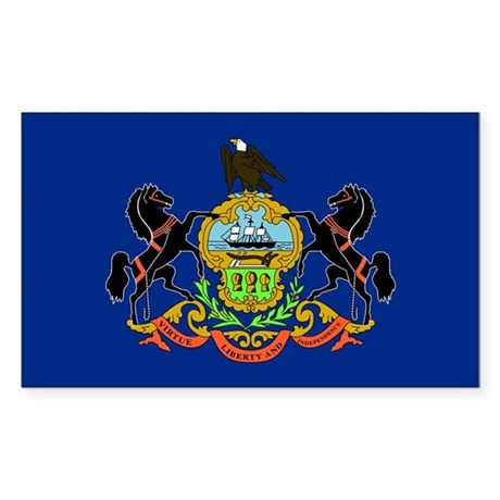Pennsylvania Flag Rectangle Sticker