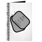My Wife is a Soldier dog tag Journal