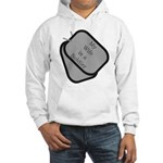 My Wife is a Soldier dog tag Hooded Sweatshirt