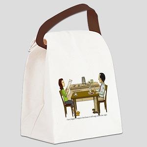 Breakfast Suspicions Canvas Lunch Bag