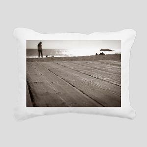 Laguna Beach Walk Rectangular Canvas Pillow