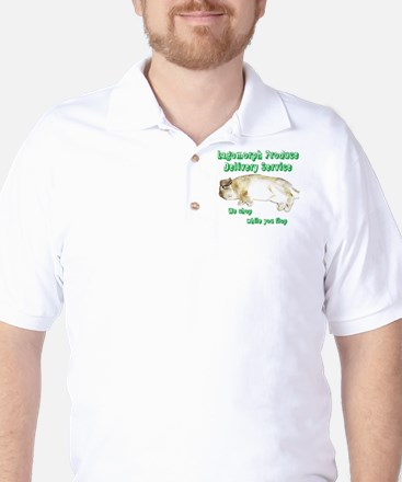 Lagomorph Produce Delivery Service Golf Shirt