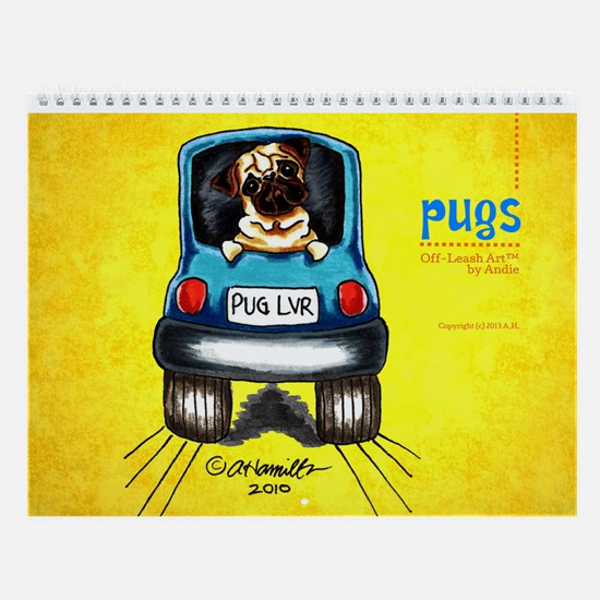 Pugs Off-Leash Art™ Vol 1 Wall Calendar