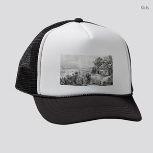Nova Scotia scenery - 1868 Kids Trucker hat