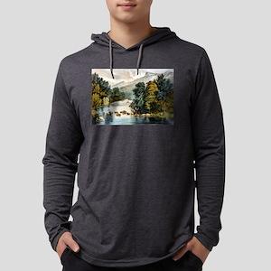 Racquet River--Adirondacks - 1880 Mens Hooded Shir