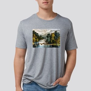 Racquet River--Adirondacks - 1880 Mens Tri-blend T