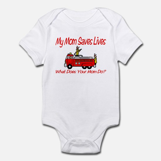 Firefighter Saves Lives-Mom Infant Bodysuit