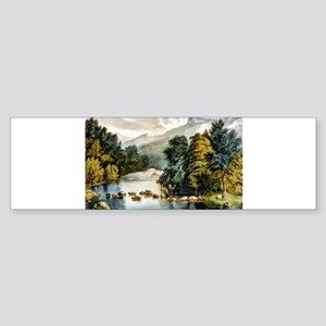 Racquet River--Adirondacks - 1880 Sticker (Bumper)