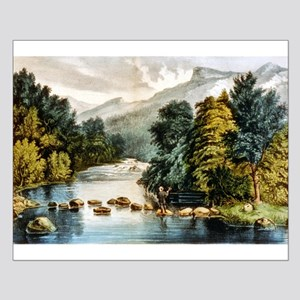 Racquet River--Adirondacks - 1880 Small Poster