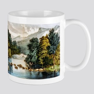 Racquet River--Adirondacks - 1880 11 oz Ceramic Mu