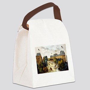 Saratoga Springs - 1907 Canvas Lunch Bag